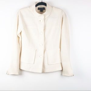 St. John Cream Color Blazer Size 4